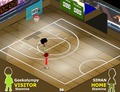 Basketball-spiel-hard-court
