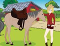 Dressup-game-with-a-rider-and-her-horse